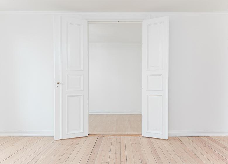 puertas de una casa nueva