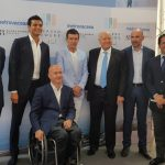 Antonio Banderas attends the official presentation of Picasso Towers in Malaga